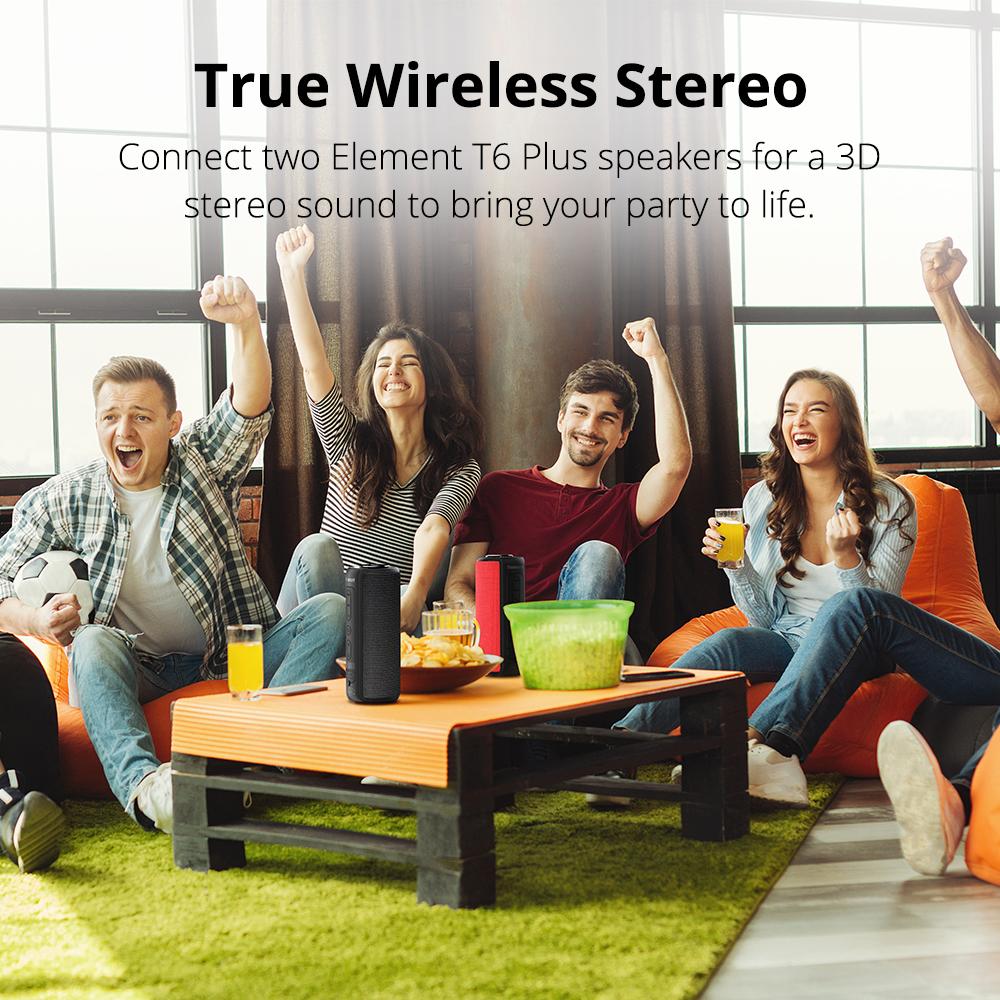 Tronsmart T6 Plus Bluetooth Speaker 40W Portable Speakers Colums Deep Bass  Soundbar with IPX6 Waterproof,TWS,Siri,SoundPulse – Langoyo